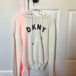 DKNY White Sweater/Hoodie